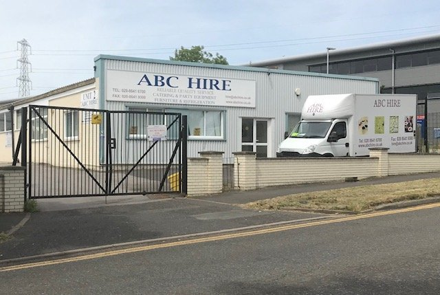 Outside Front ABC Hire Defibrillator Location