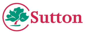Sutton council Logo in Colour. Emergency contact information vis Sutton Council.